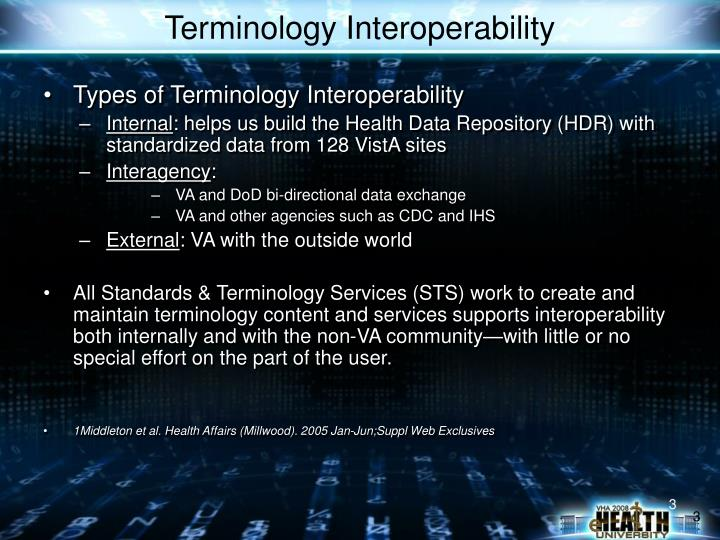 Types of Terminology Interoperability