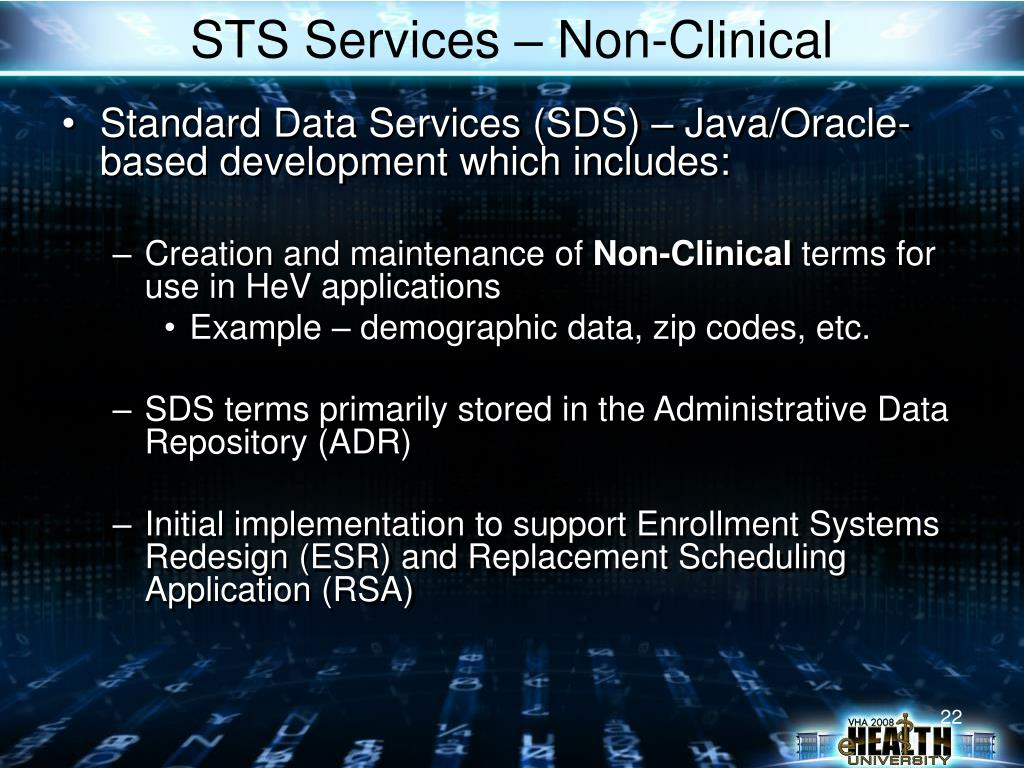 STS Services – Non-Clinical