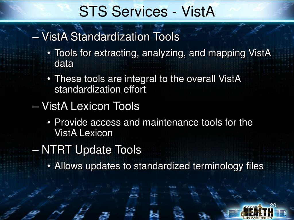 STS Services - VistA