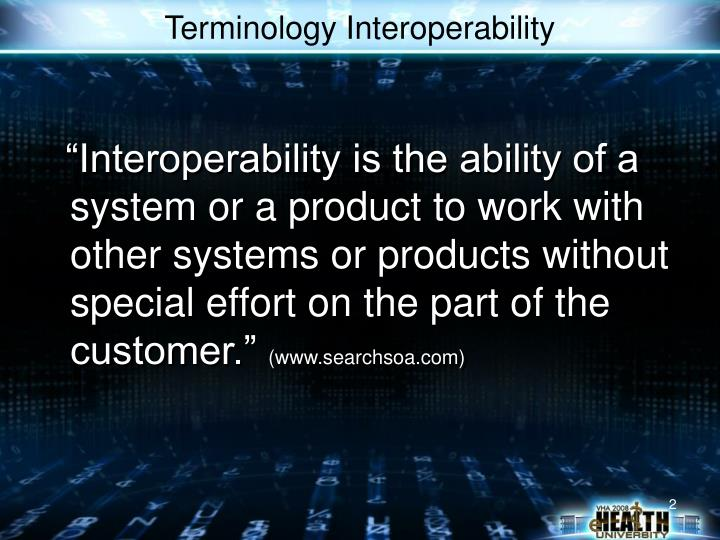 Terminology interoperability