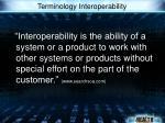terminology interoperability