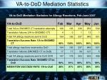 va to dod mediation statistics