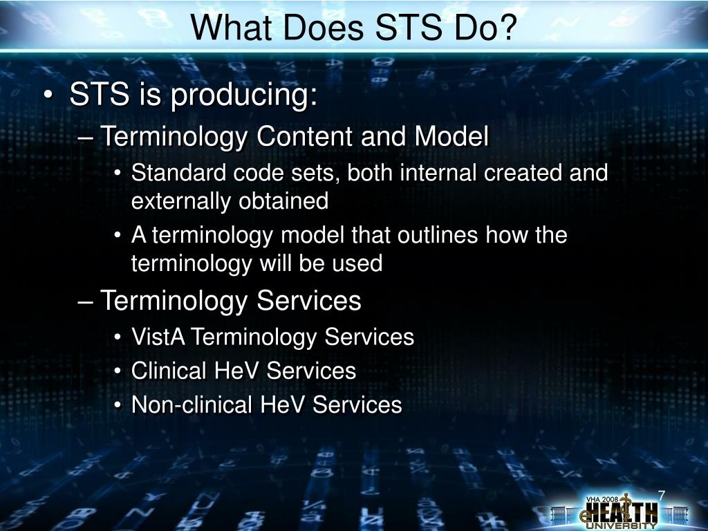 What Does STS Do?