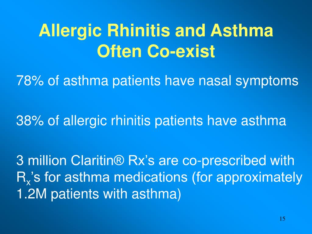Allergic Rhinitis and Asthma Often Co-exist