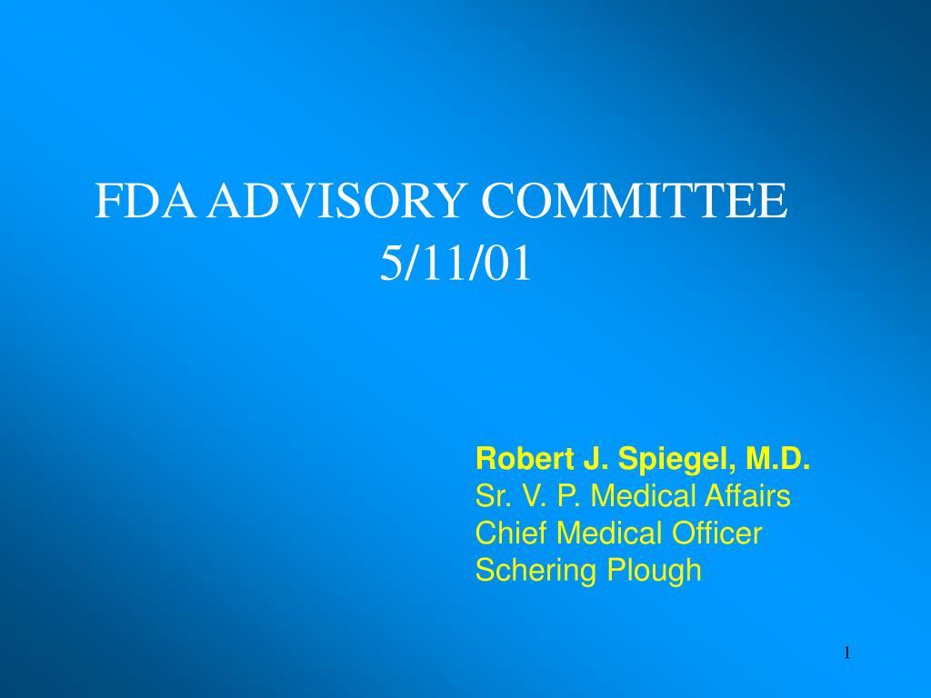 FDA ADVISORY COMMITTEE