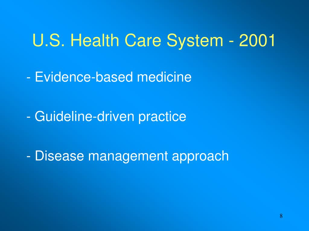 U.S. Health Care System - 2001