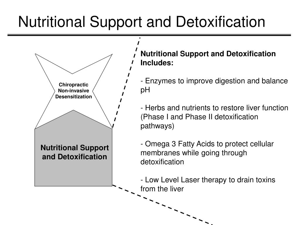 Nutritional Support and Detoxification