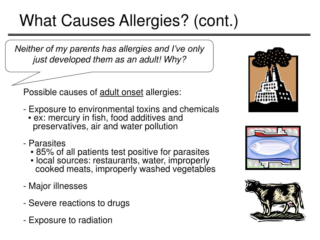 What Causes Allergies? (cont.)