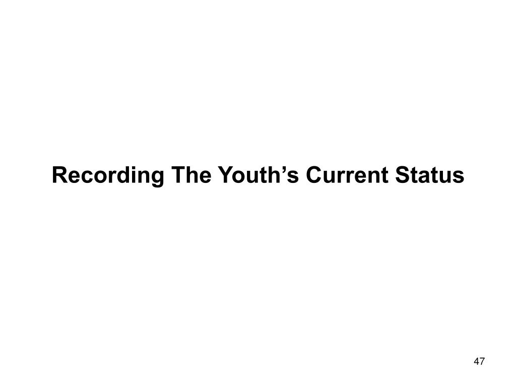Recording The Youth's Current Status