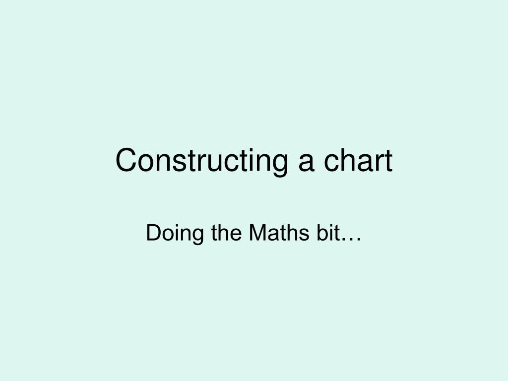 Constructing a chart