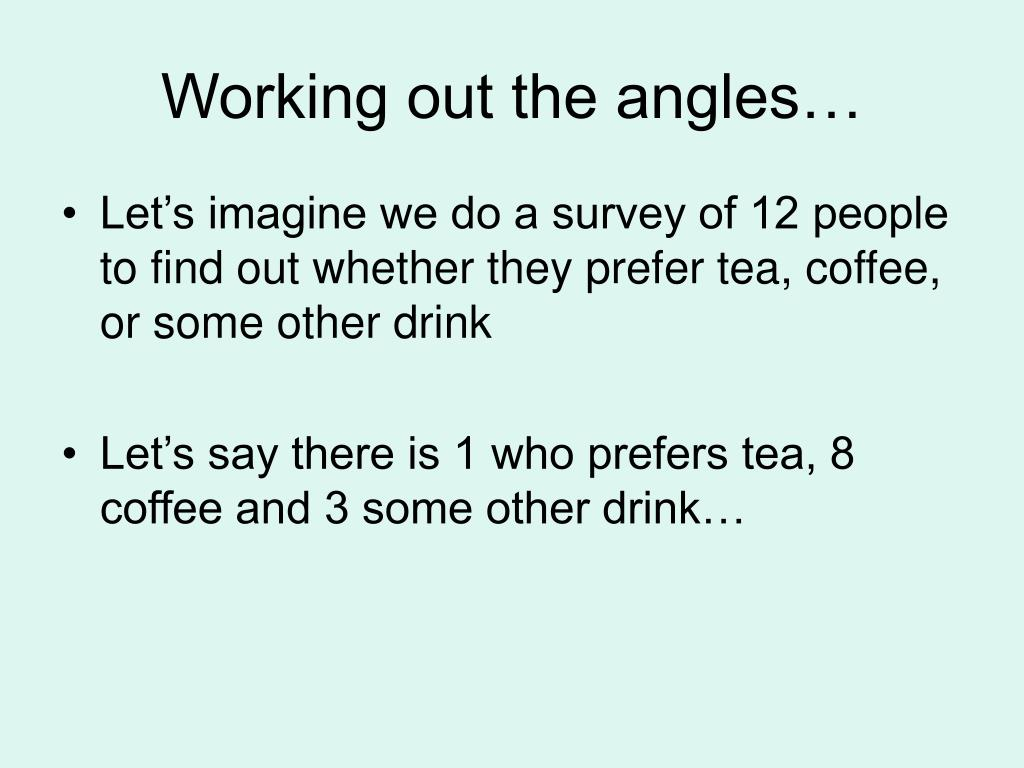 Working out the angles…