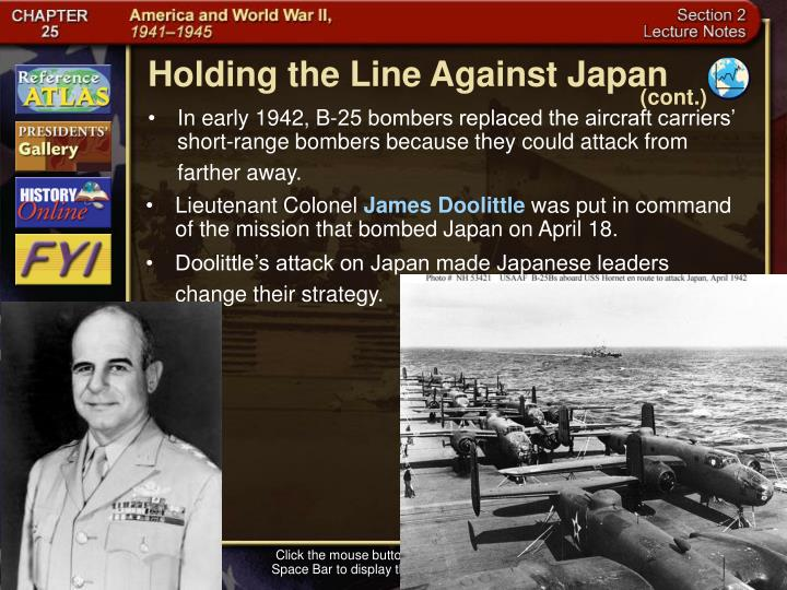 Holding the Line Against Japan