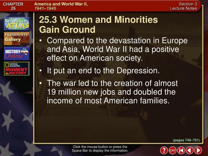 25.3 Women and Minorities