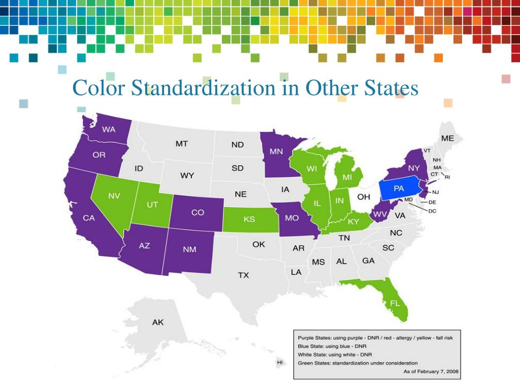 Color Standardization in Other States