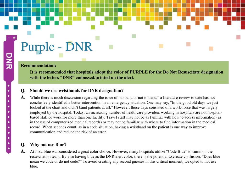Purple - DNR