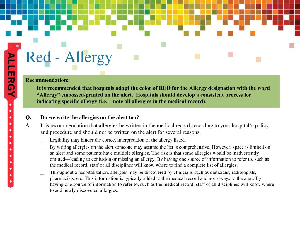 Red - Allergy