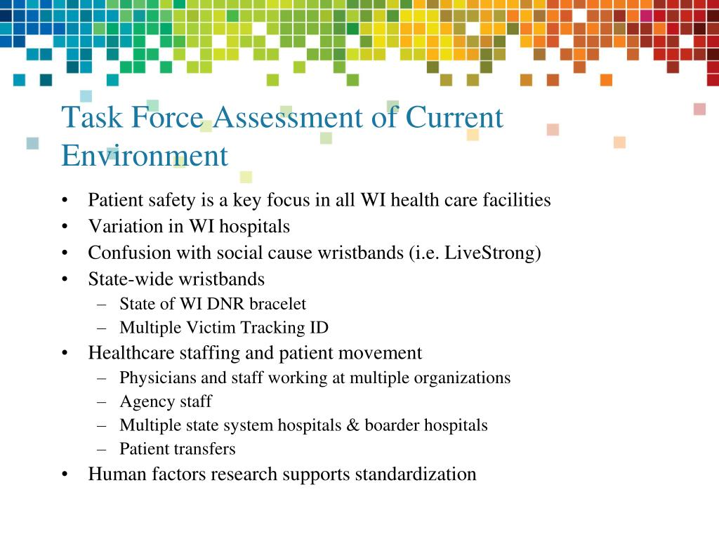 Task Force Assessment of Current Environment