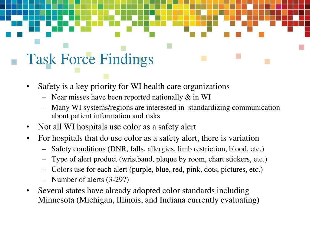 Task Force Findings