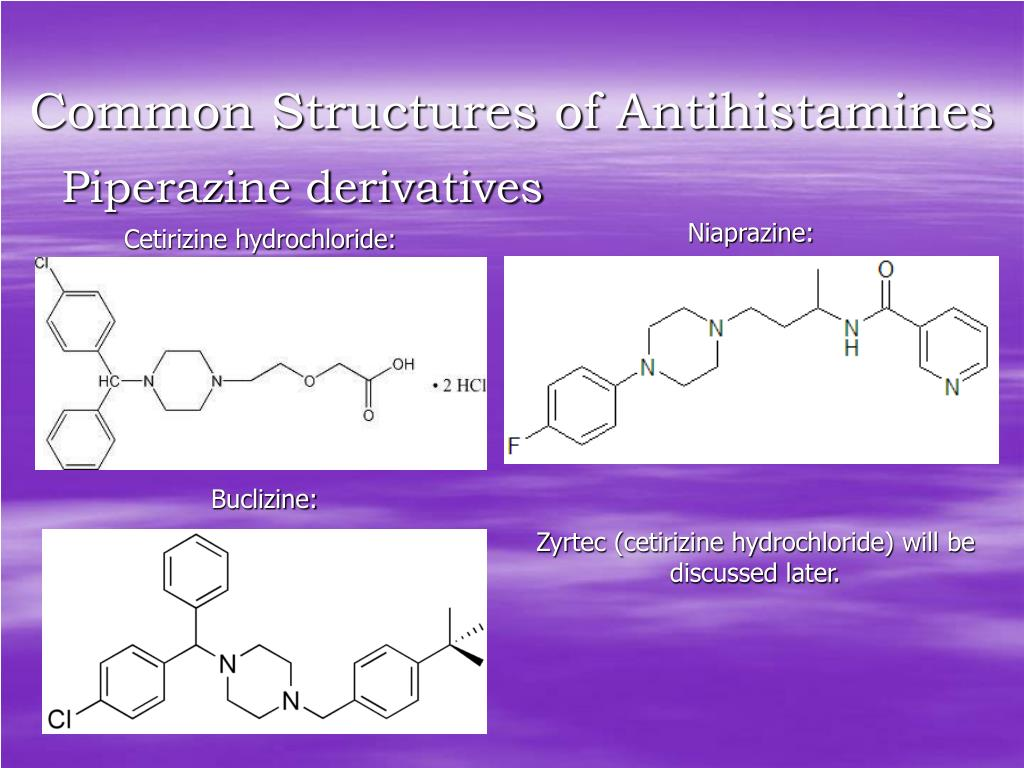 Common Structures of Antihistamines
