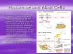 histamine and mast cells