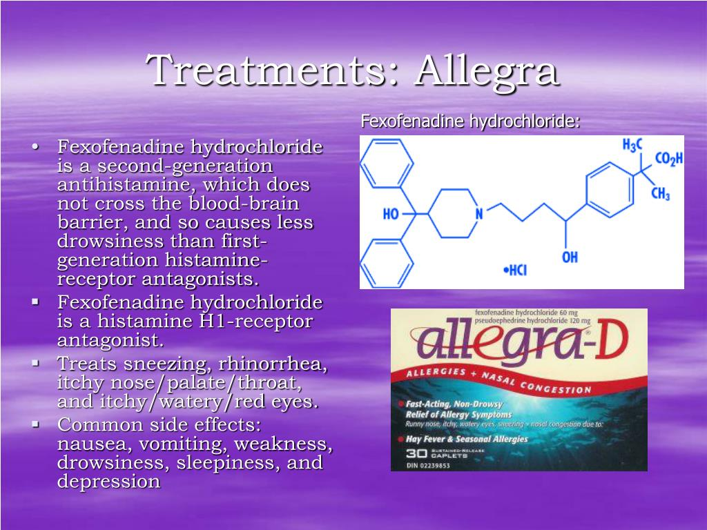 Treatments: Allegra