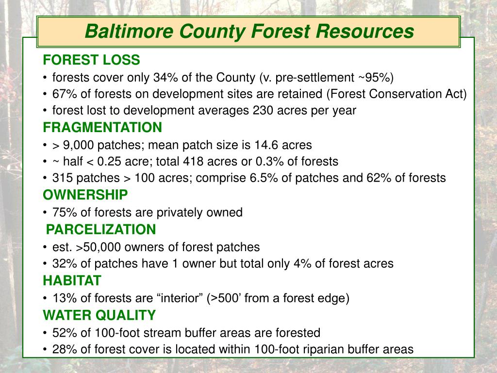 Baltimore County Forest Resources