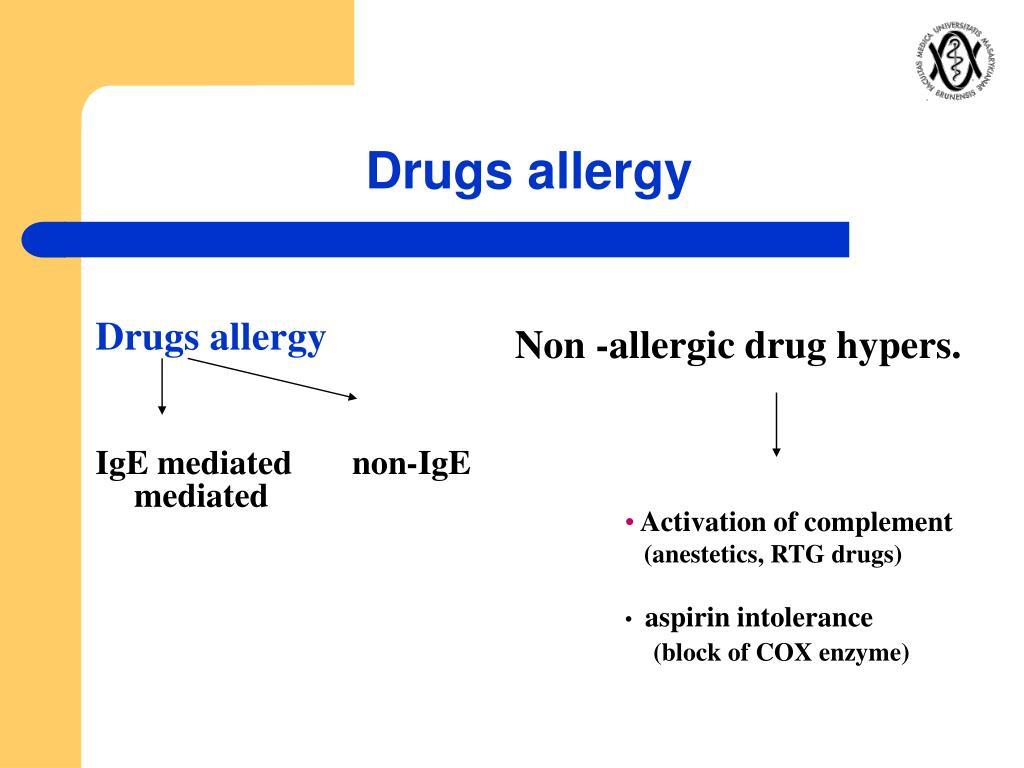 Drugs allergy