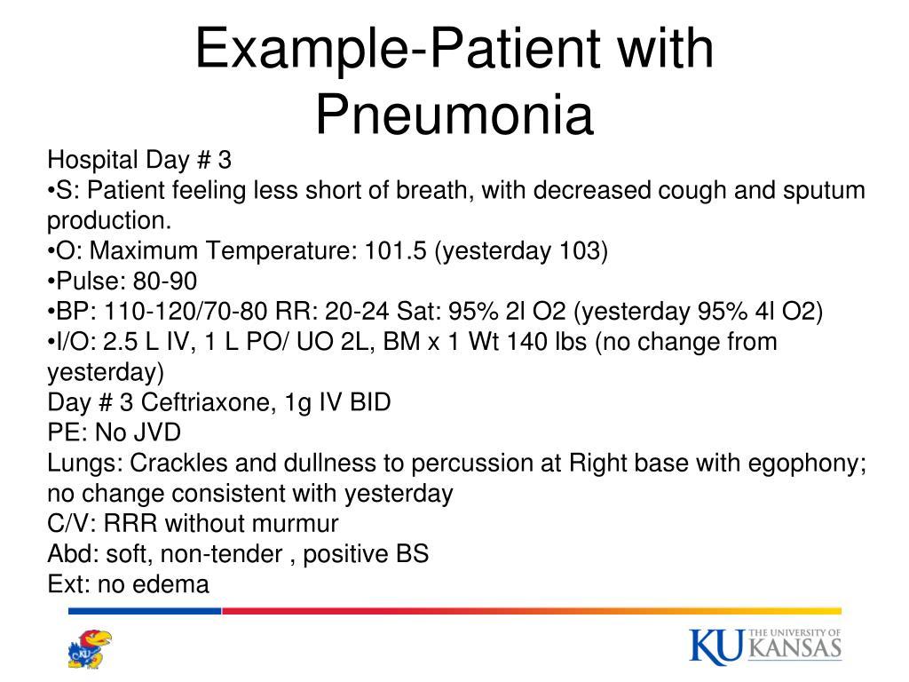 Example-Patient with Pneumonia