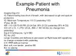 example patient with pneumonia