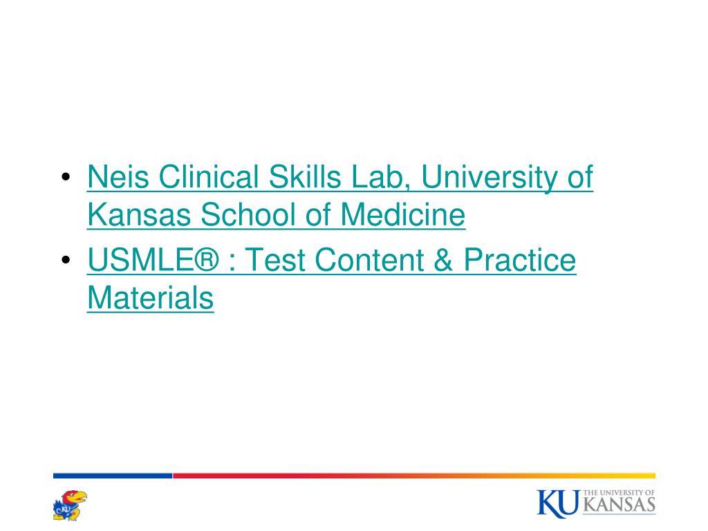 Neis Clinical Skills Lab, University of Kansas School of Medicine