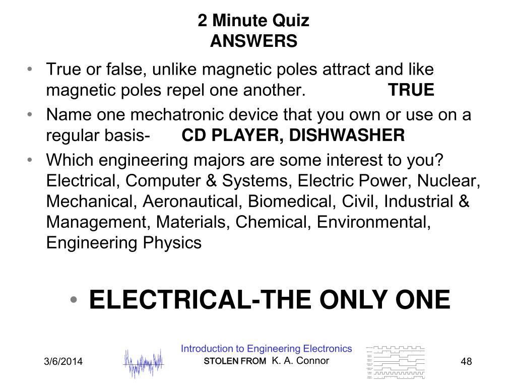 2 Minute Quiz