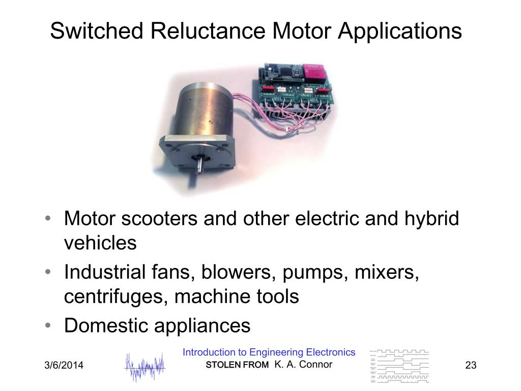 Switched Reluctance Motor Applications
