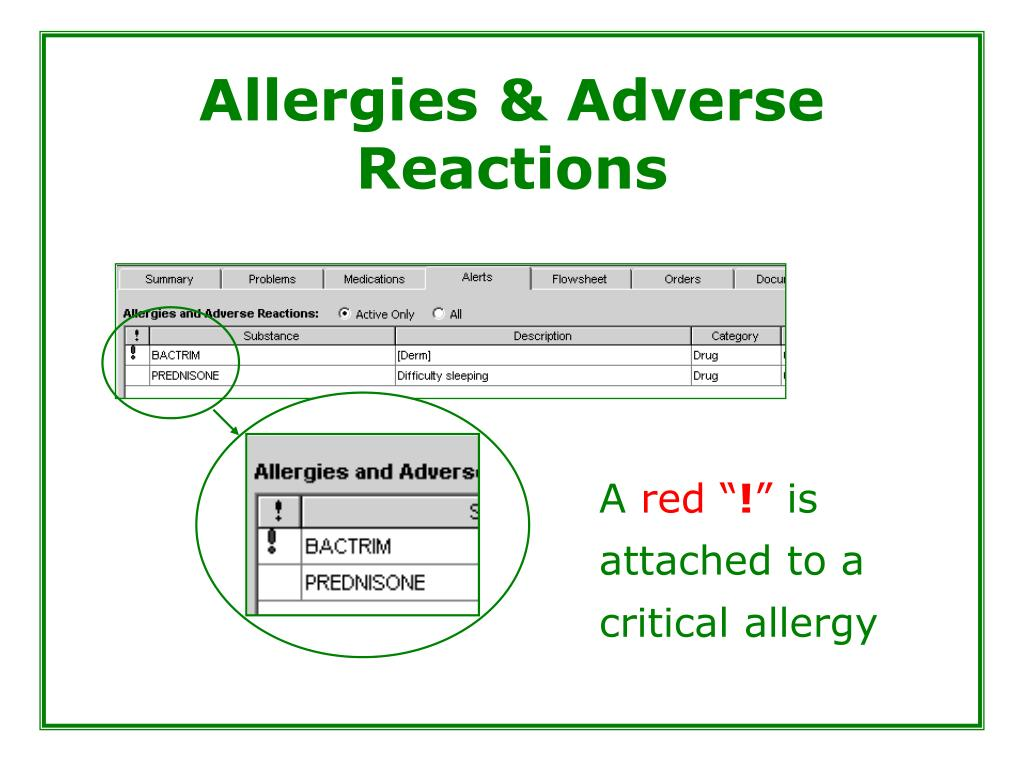 Allergies & Adverse Reactions