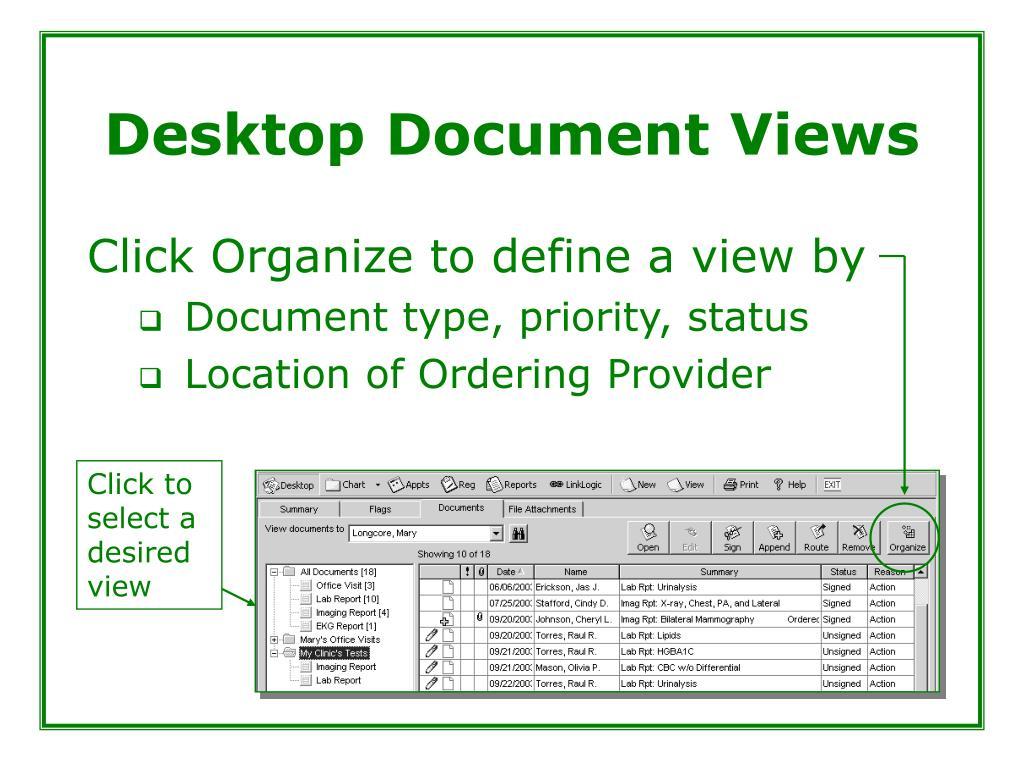 Desktop Document Views
