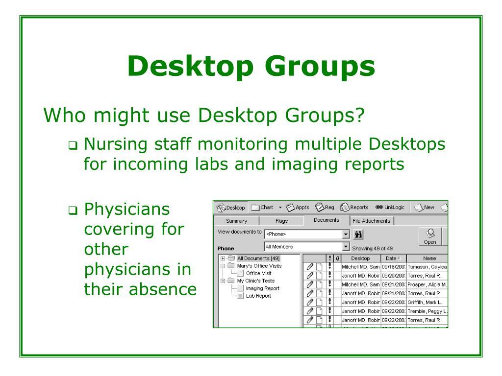 Desktop Groups