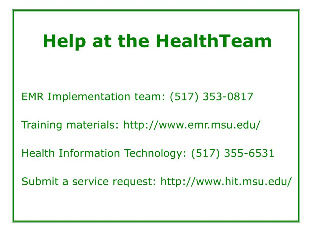 Help at the HealthTeam