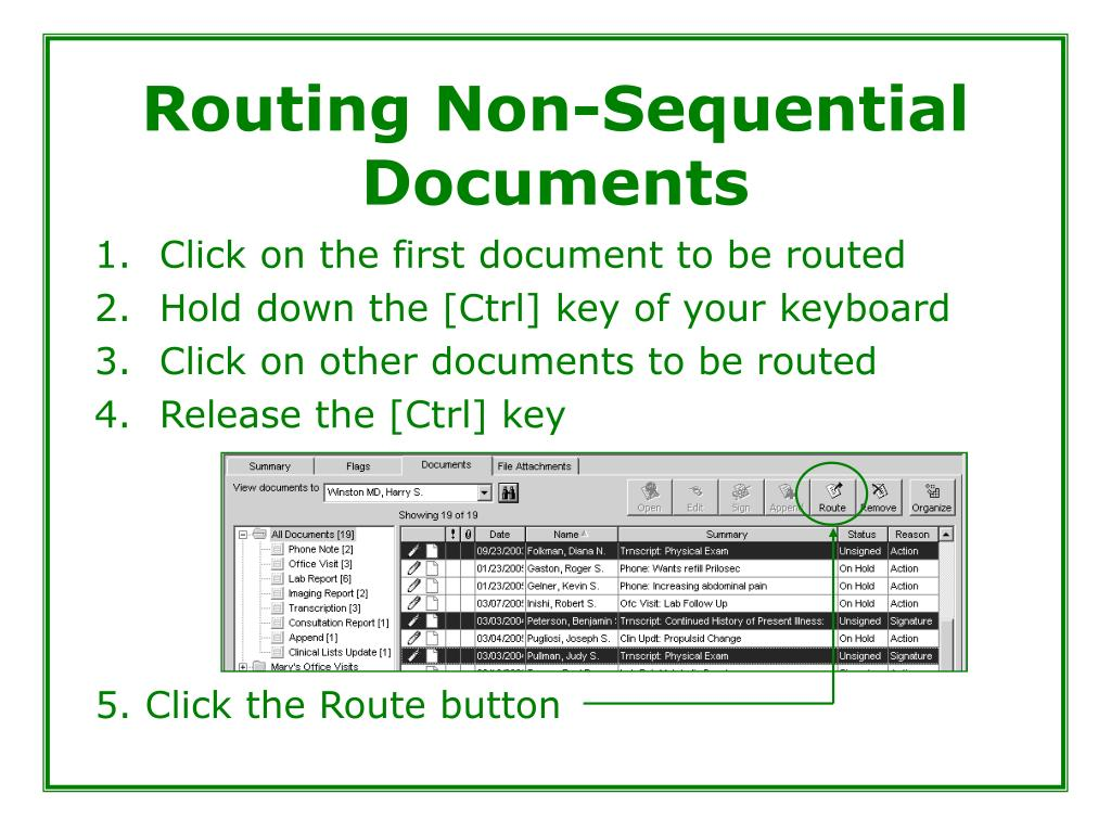 Routing Non-Sequential Documents