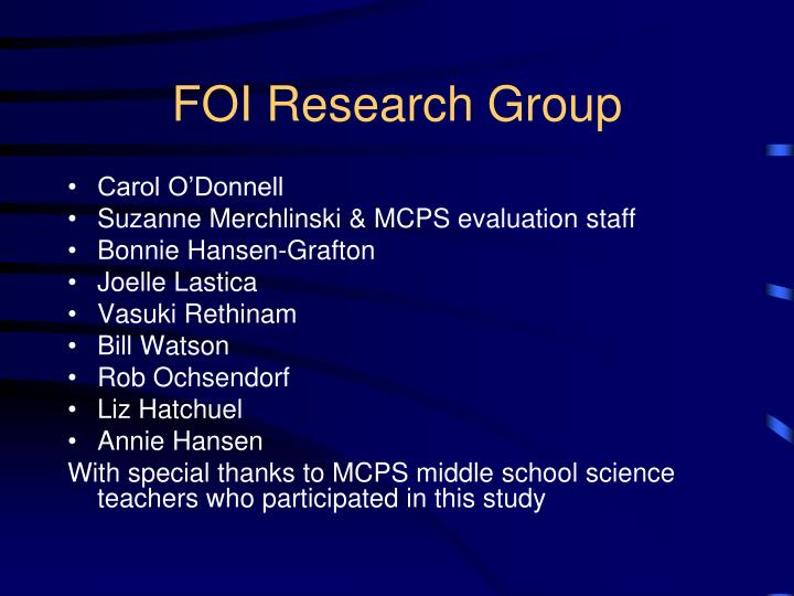 Foi research group
