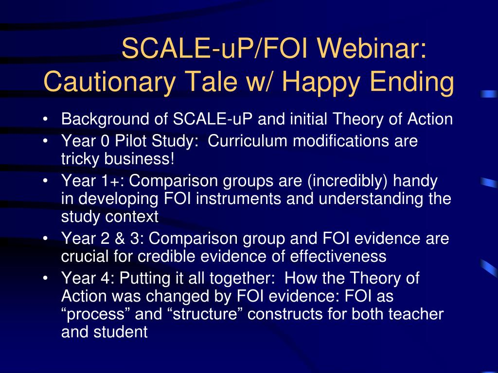 SCALE-uP/FOI Webinar: