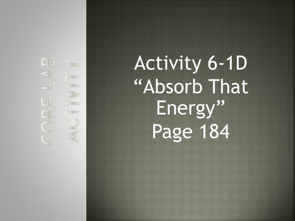 Core Lab Activity