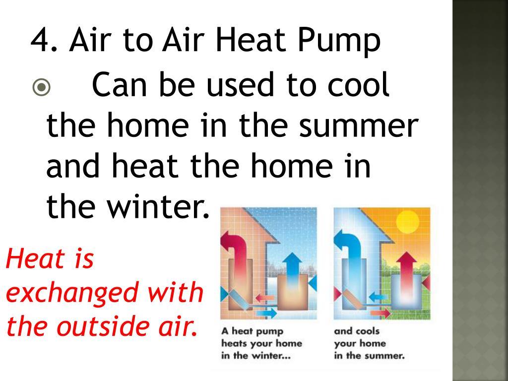 4. Air to Air Heat Pump