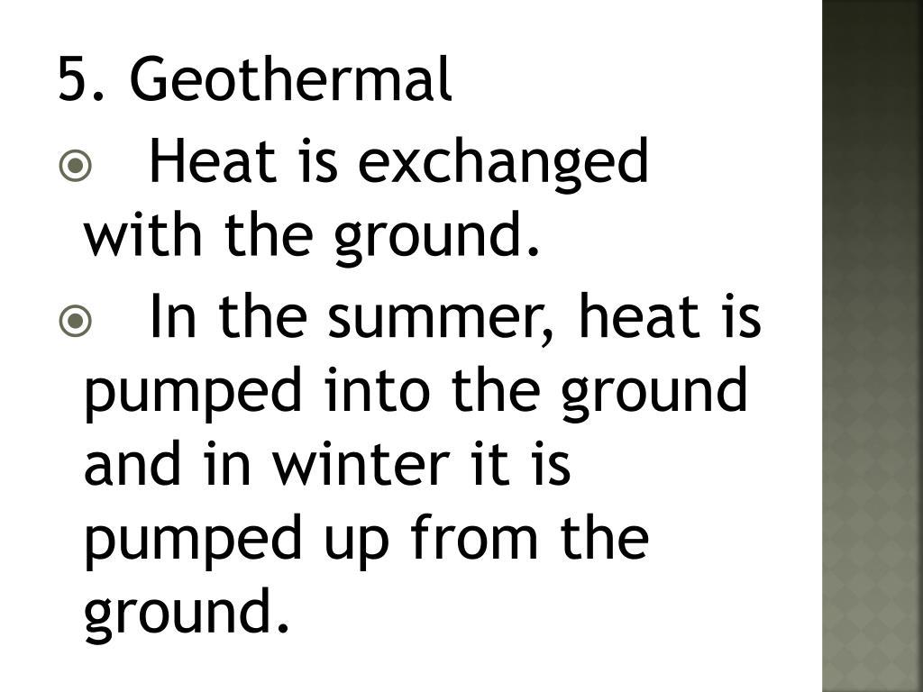 5. Geothermal