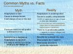 common myths vs facts source http www anaphylaxis com