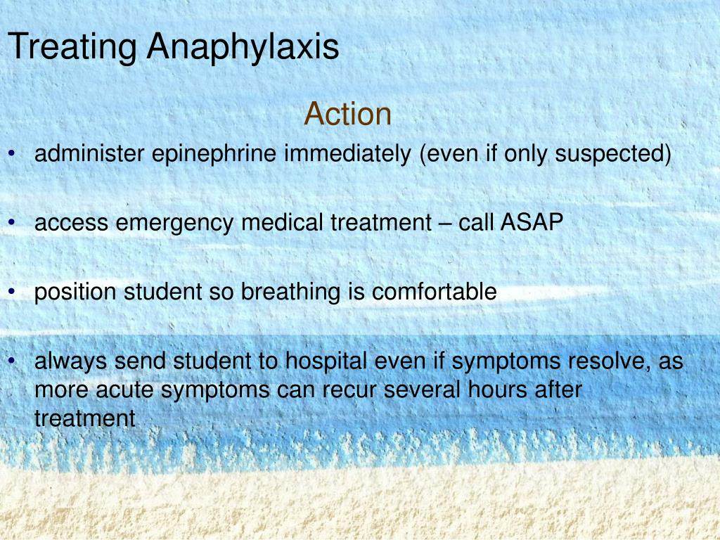 Treating Anaphylaxis