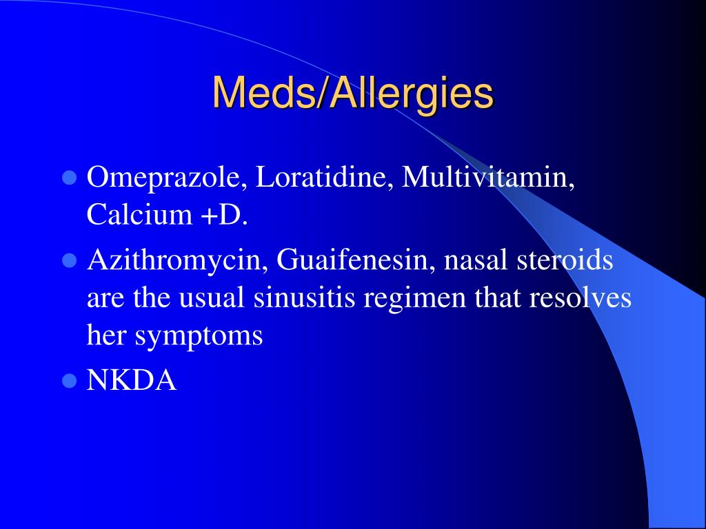 Meds/Allergies