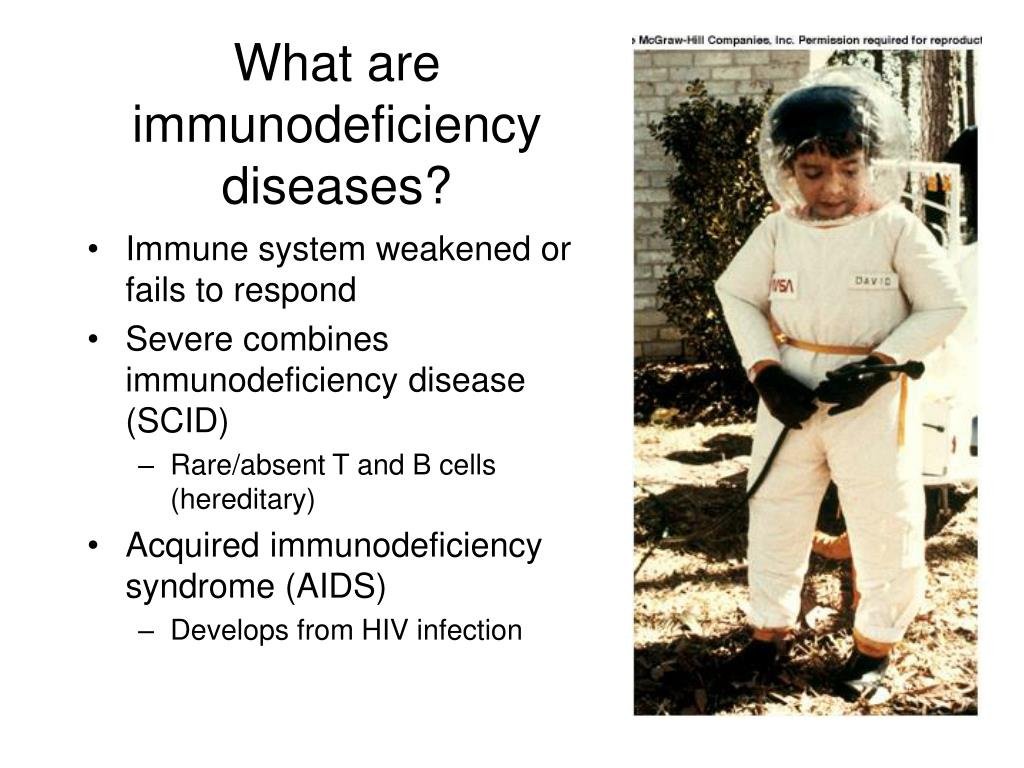 What are immunodeficiency diseases?