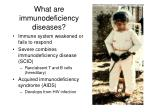 what are immunodeficiency diseases