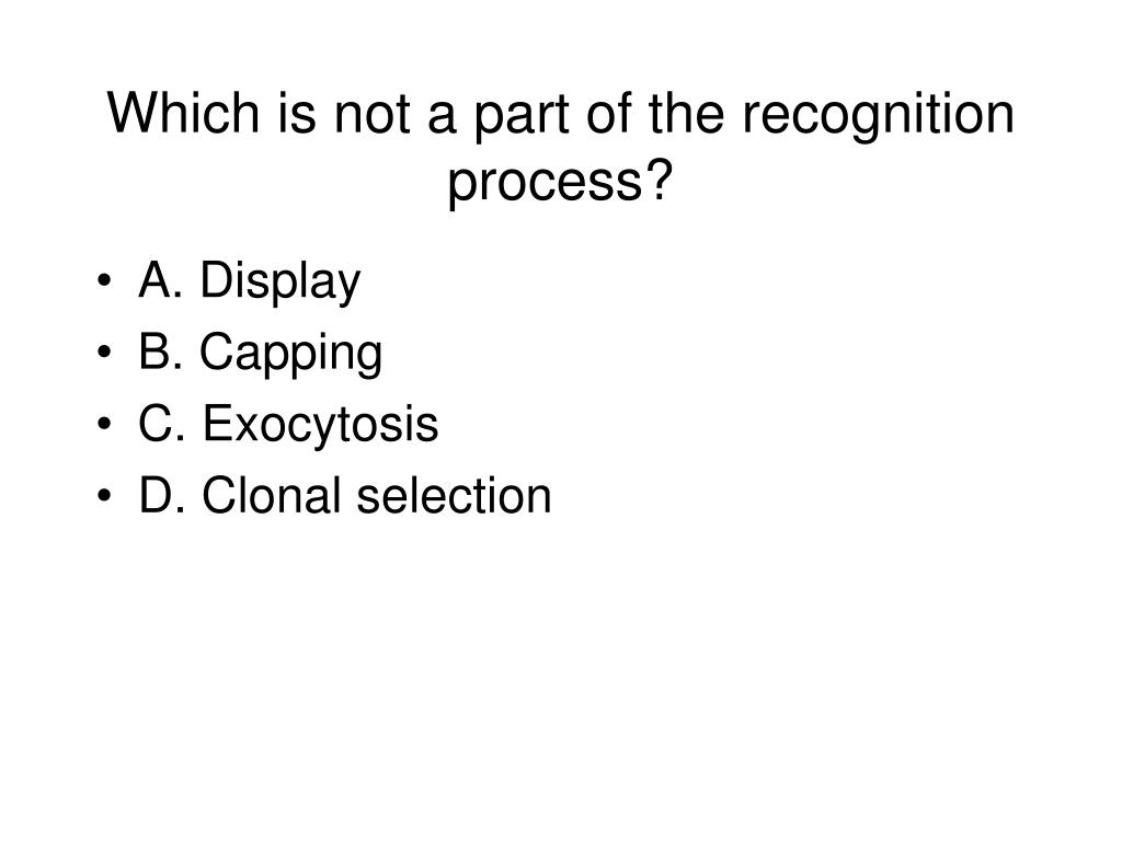 Which is not a part of the recognition process?
