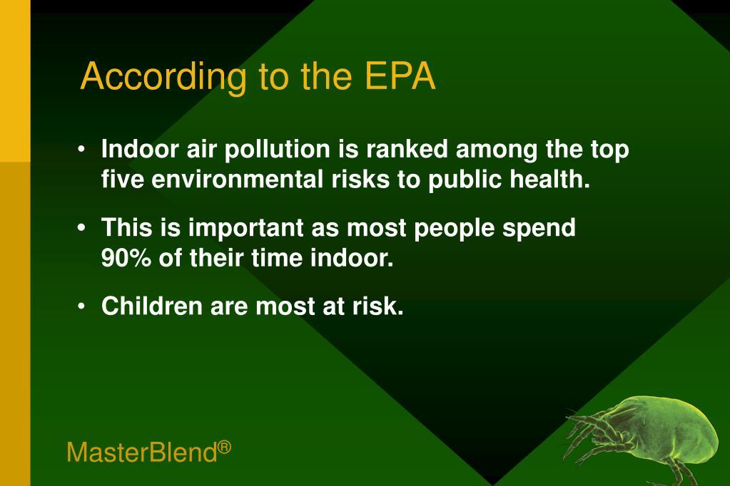 According to the EPA