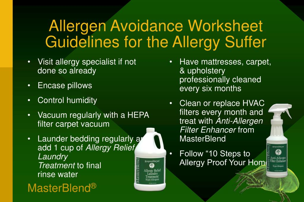 Visit allergy specialist if not done so already
